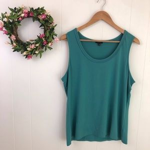 ❤️{3/$25} Talbots Women's XL Teal Stretchy Tank